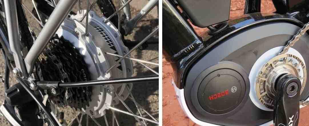 Velo electrique moteur moyeu ou pedalier